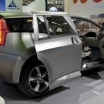 Прототип Marussia F2 на Московской Международной выставке «Связь-Экспокомм-2010»