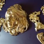 Элементы авторского литого декора для стола блэк-джек – проект М.Р. Тренихина  Начало 1990-х.