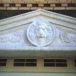 Мраморный портал гаража особняка в Бронницах.  По эскизам, чертежам и рельефной глиняной модели льва М.Р. Тренихина