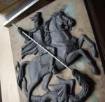 Герб Москвы (рельеф) для дипломатического  представительств в Минске (Белорусь) и Кейптауне (ЮАР). Модель в пластилине для литья  в бронзе по выплавляемым моделям