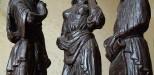 Восковки для литья бронзовых скульптур в кабинет Е. И. Чивилихина.  Фирсановка (Подмосковье). 2000 год  Высота 270 мм